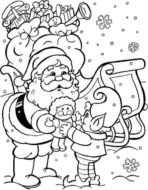 Immagini Di Natale Da Colorare E Da Stampare.Nuovi Disegni Di Natale Da Colorare E Colorati Da Stampare
