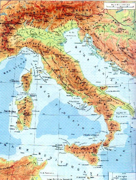 Cartina Dellitalia Alpi E Appennini.Italia Monti Fiumi E Confini Appunti Di Scuola