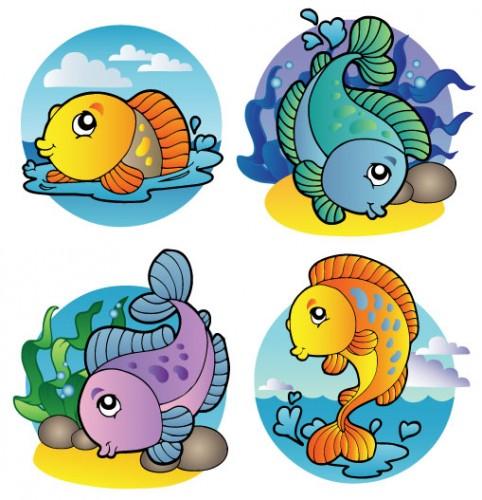 pesciolini da colorare e ritagliare appunti di scuola