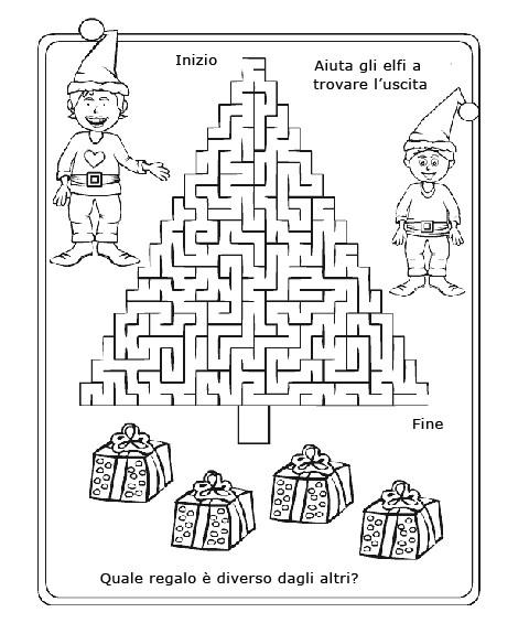 Gioco Di Natale Da Stampare Per Bambini Il Labirinto Degli Elfi