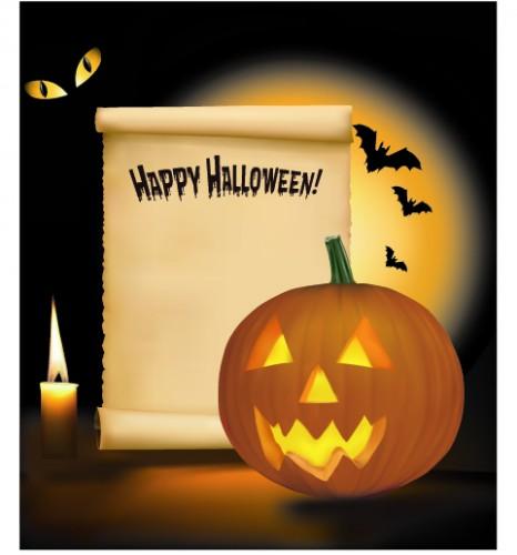 biglietto cartolina per halloween appunti di scuola