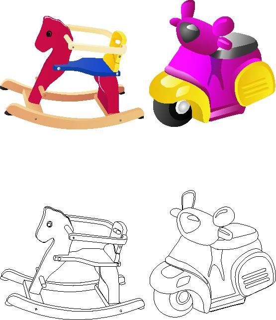Disegni Giocattoli Bambini Da Colorare E Colorati Appunti Di Scuola