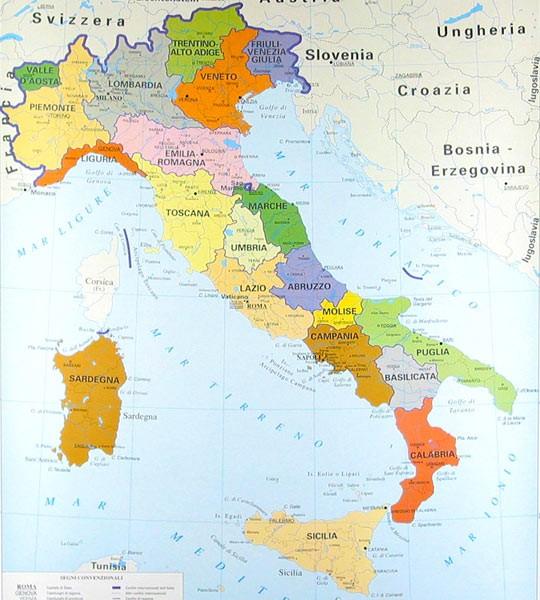 Cartina Fisica Italia Monti.Italia Monti Fiumi E Confini Appunti Di Scuola