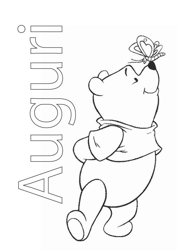 Winnie The Pooh Auguri Da Colorare Appunti Di Scuola
