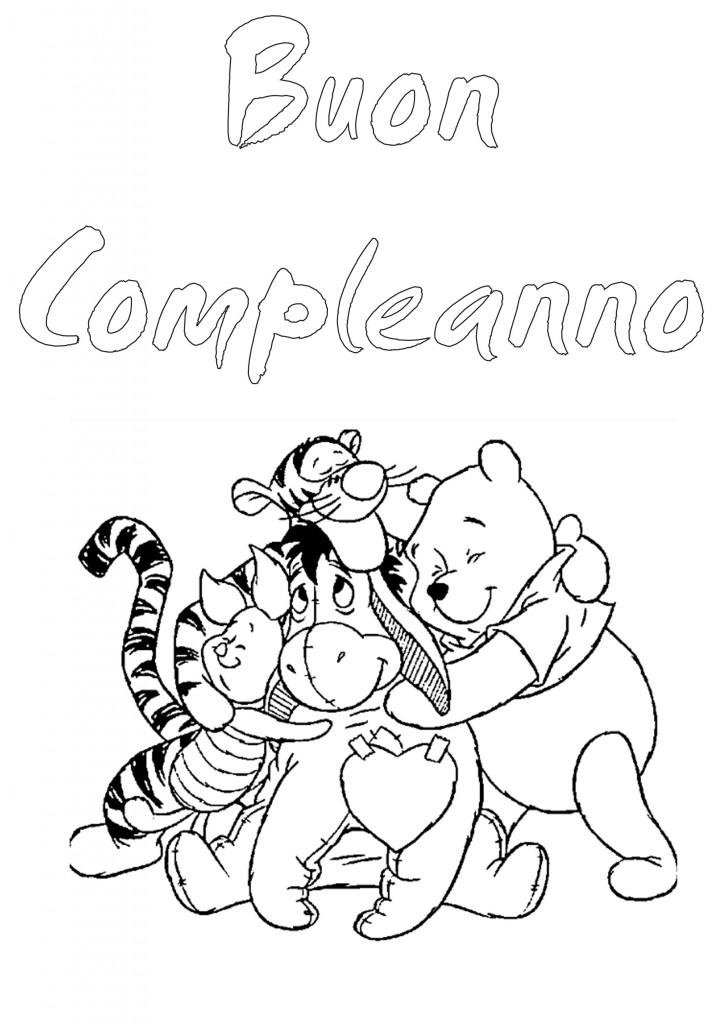 Winnie The Pooh Buon Compleanno Da Colorare Appunti Di Scuola