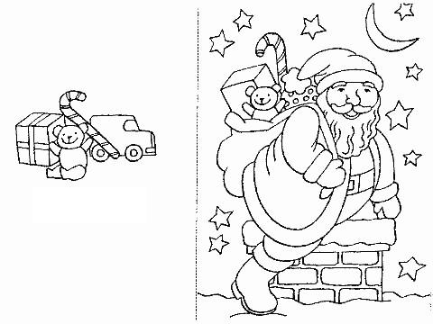 Disegni e cartoline di natale da colorare appunti di scuola for Disegni di natale facili per bambini