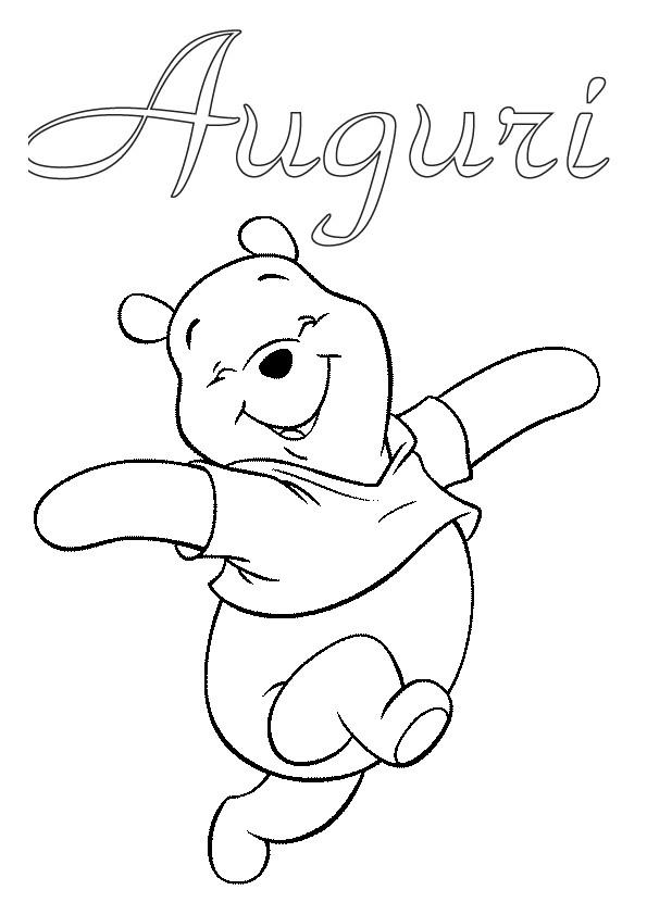 Disegni Di Natale Per Scuola Media.Winnie The Pooh Da Colorare Auguri Di Natale Appunti Di Scuola